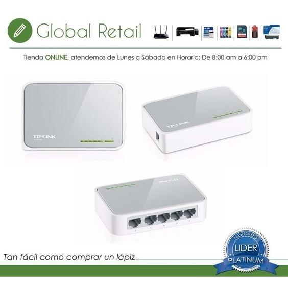 Switch Tp-link Tl-sf1005d 5 Puertos10/100 Red Rj-45