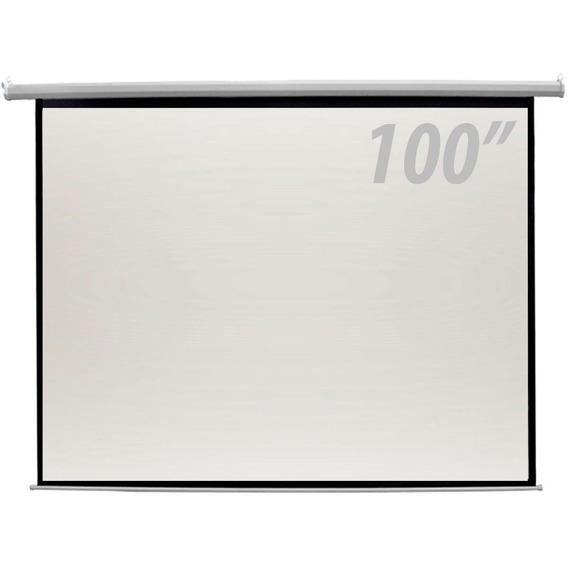 Tela De Projeção 100 Polegadas Elétrica Controle Remoto Csr