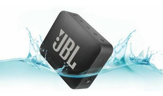 Caixa De Som Jbl Go 2 Bluetooth 3 Watts Prova Água Preta(black) Original Lacrada