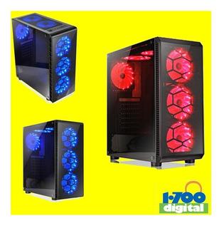 Case Pc Gamer 6 Ventiladores Ventana Atx Sin Fuente Micro