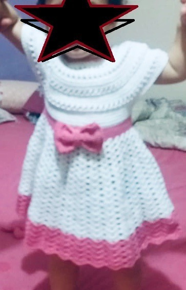 Vestido Infantil Croche 1 Ano Calçados Roupas E Bolsas
