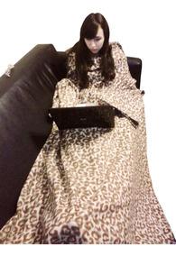 Cobertor Com Mangas E Bolso Para Os Pés - Kit Com 02 Peças