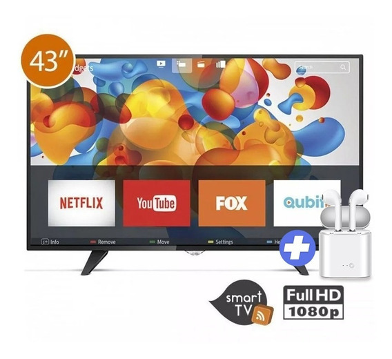 Tv Smart Aoc 43 Pulgadas Full Hd Gtia. 2 Años + Auricu Inal