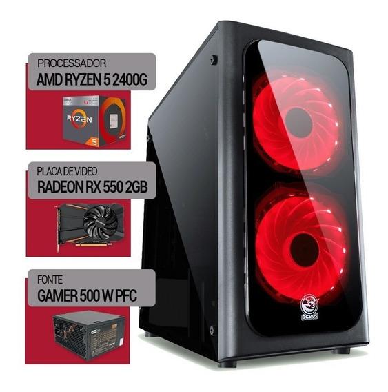 Pc Ryzen 5 2400g+ Am4 A320m + 500 Gb + Rx550 2gb + 4gb Ddr4