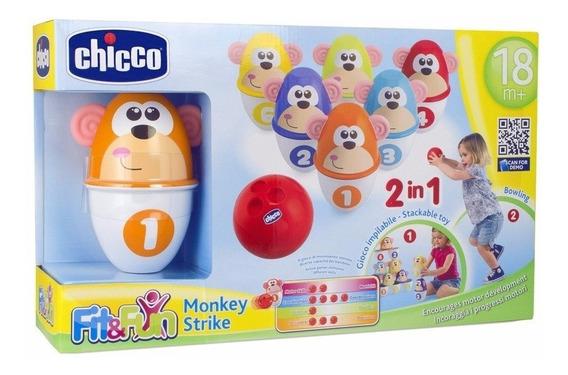 Chicco Boliche 2 En 1 Monkey Strike Fit & Fun Nuevo Oferta