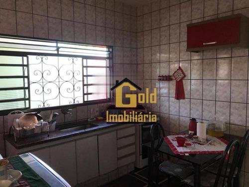 Casa Com 2 Dormitórios À Venda, 56 M² Por R$ 180.000 - Ipiranga - Ribeirão Preto/sp - Ca0669