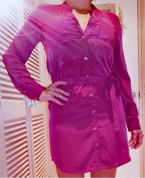 Vestido Seda Con Brillo Satin T2 Banana Republic