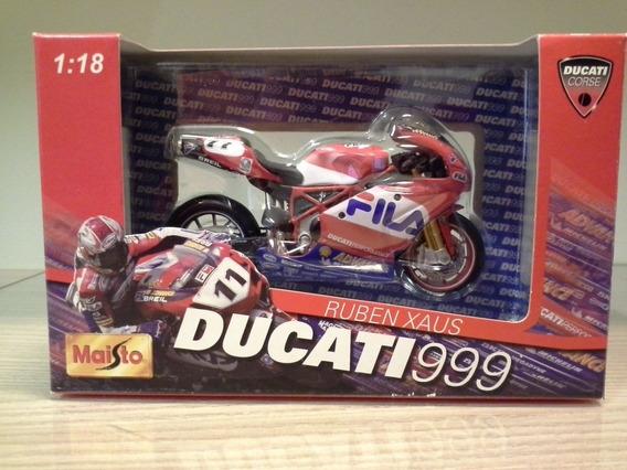 Miniatura Moto Ducati 999 Ruben Xaus 11 Escala 1:18 (11 Cm)