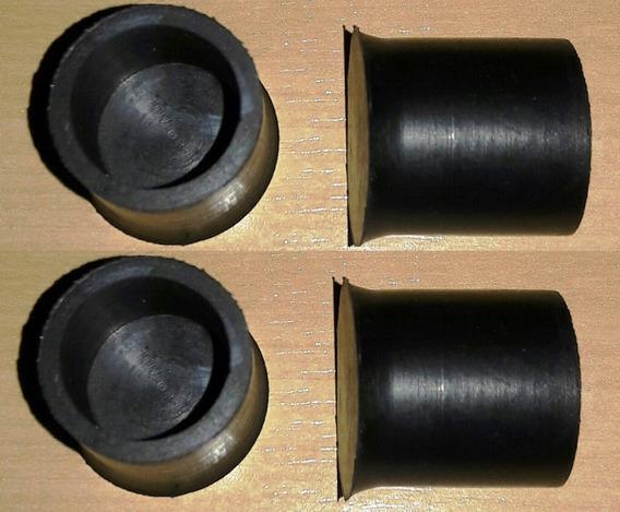 Sapata Borracha Para Cadeira E Mesa Ø3/4 (19.05mm) - 16 Pçs