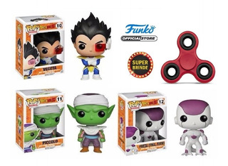 Kit 03 Funko Pop! Dragonball Z - #10 #11 #12 Spinner Brinde