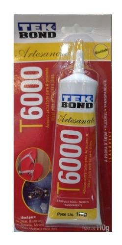 Cola Tek Bond T6000 110g- Multiuso- Artesanato-perola-
