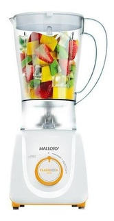 Liquidificador Flash Mix - Branco E Laranja - Mallory - 110v