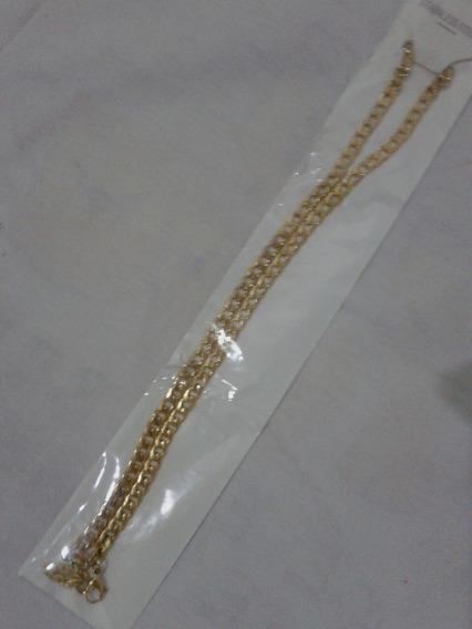 Corrente 18k Banhado A Ouro 24 Polegadas 45 Cm