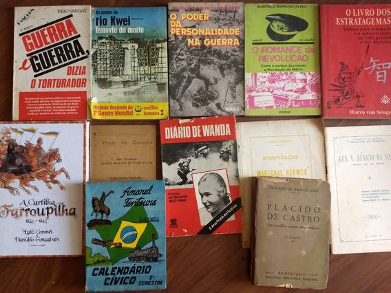 12 Livros Militarismo Guerra Revolução 64 Exército Lote