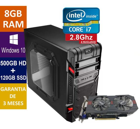 Pc Gamer Core I7 + 500gb + Ssd 120gb 8gb Ram + Gtx 750ti 2gb