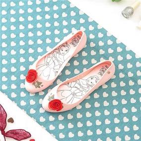 Zapatos Flats Mujer Melissa Bella Y La Bestia 22.5 A 24.5 Cm