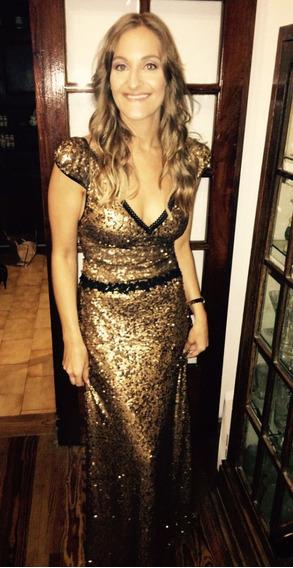 Vestido Dorado De Penny Love