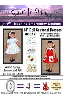 18 Vestidos De Temporada De Muñecas - En El Aro - Diseños De