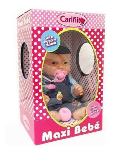 Maxi Bebe Bebote Original De Cariñito 40 Cm Ropita Y Chupete