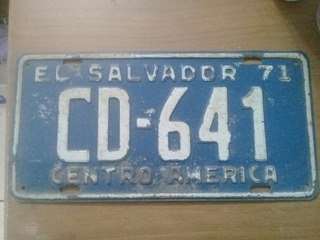 Placa De Carro Antiga Fe El Salvador