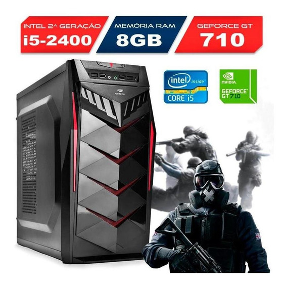 Computador Gamer Intel Core I5-2400 Gt 710 Ram 8gb Hd 500gb