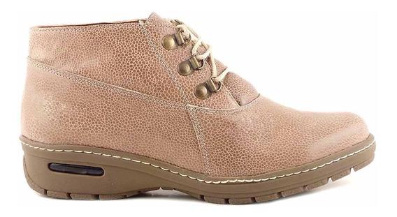 Bota Borcego Cuero Zapato Mujer Briganti Botita - Mcbo24679