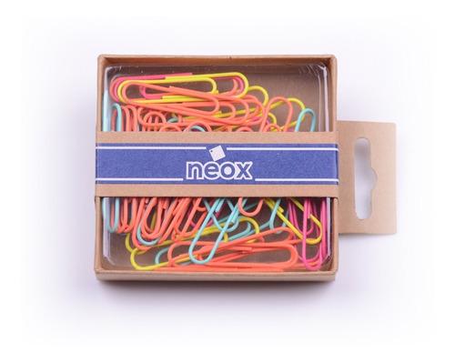 Imagen 1 de 1 de Set De Clips Multicolor Neox 50 Mm - Mosca