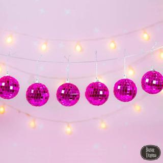 Guirnalda Disco Ball Esferas Boliche Vienen 6 Bolas Disco