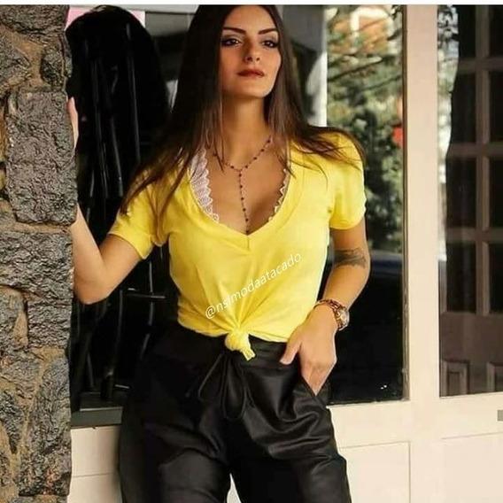 Blusa Podrinha Feminina Com Renda Moda Feminina Roupa Bpr