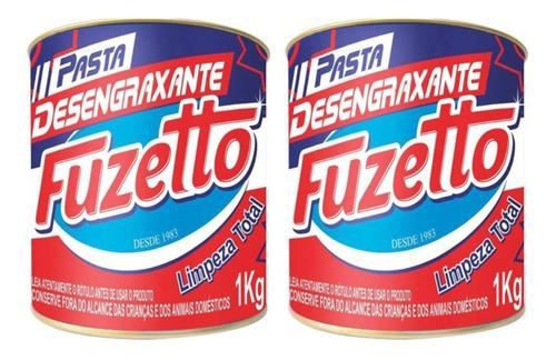 Imagem 1 de 4 de Kit 2 Pastas P/ Lavar Mãos Fuzetto 1kg Desengraxante Areiosa