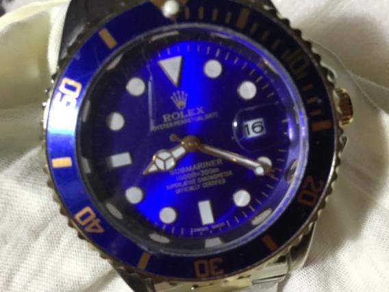 Relógio Rolex, Masculino, Azul, Grande