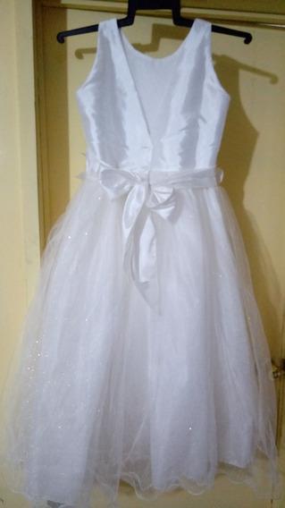 Vestido De Primera Comunion Talla 12 Blanco