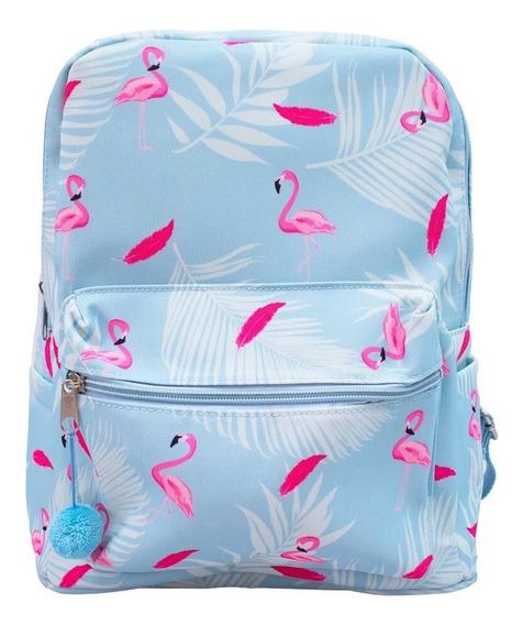 Mochila Azul Flamingo 35x27x16cm