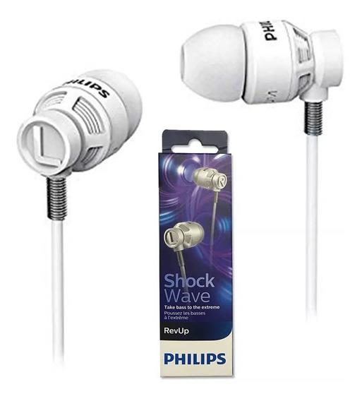 Fone Ouvido Alta Potência Philips She-5300 Branco Preto