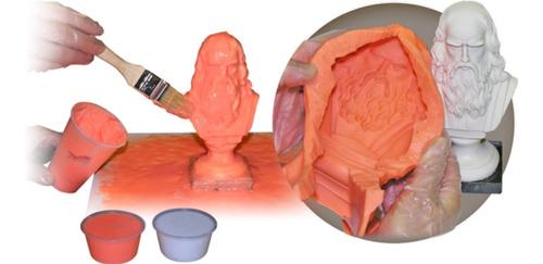 Caucho Silicona Moldes Liquido Brochable 25 X 225g Estatuas