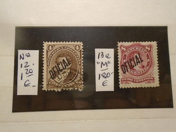 Estampillas Argentina. Dos Sellos. S. Oficial. 181,20 Euros.