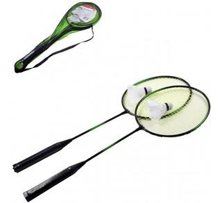 Kit Badminton Raquete Sport Adulto