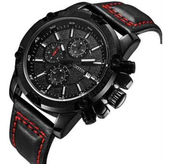 Relógio Masculino Ochstin 6075g Antigo 075b Preto