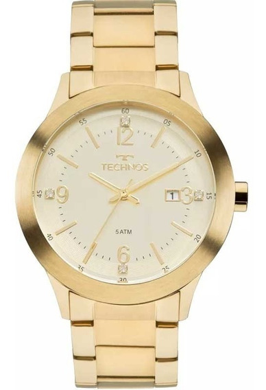 Relógio Technos Masculino Dourado 2115mkr/4x