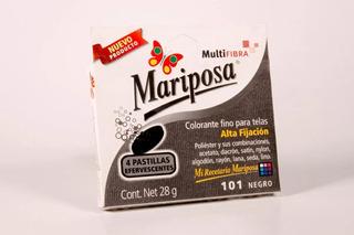 Colorante Mariposa Multifibra Negro 101