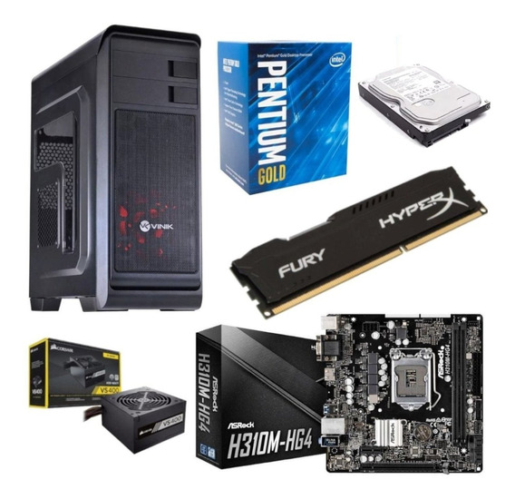 Pc Hunter Pentium G5400 Asrock H310m Hg4 Hx 8gb Vs400 Hd 1tb