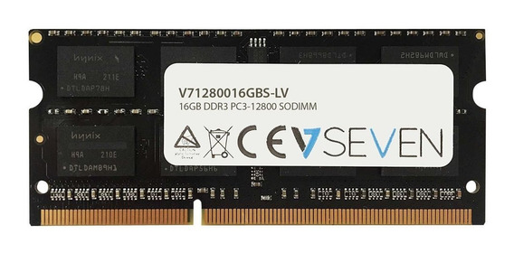Memoria Ram 16gb V7 Ddr3 1600mhz Cl11 So Dimm Pc3l-12800 1.35v (v71280016gbs-lv)