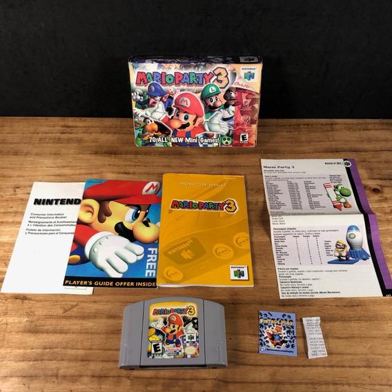 Mario Party 3 Na Caixa Cib 100% Original P/ Nintendo 64!!