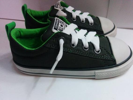 Tenis Converse Color Verde,blanco Para Niño