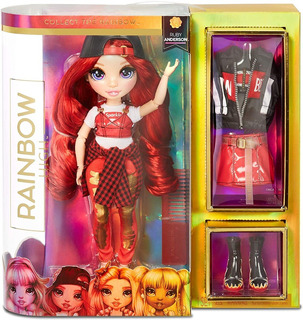 Muñeca Moda Sorpresa Rainbow High Red Ruby 2 Conjuntos