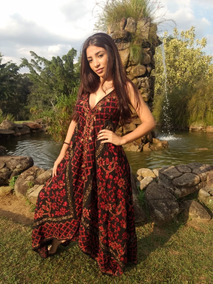 Vestido Indiano Longo Alcinha Algodão Roupas Femininas India