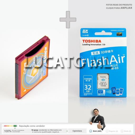 Adaptador Sd Wifi P/ Cf2 + Sdwifi 32gb W03 + Frete Grátis Sj