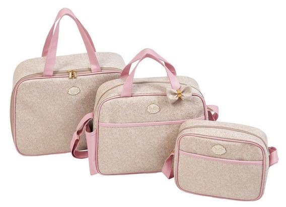 Bolsas De Maternidade Para Menina Rosa Original Com Laço