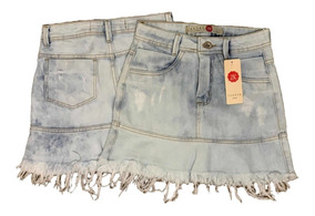 Saia Jeans Hot Pants Destroyed