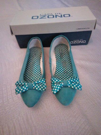 Zapatos Flats Ozono Pin Up Zapatos De Piso